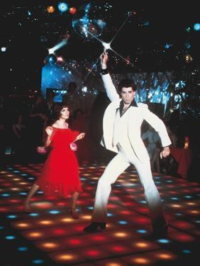 Saturday night fever by John Badham with Karen Lynn Gorney, John Travolta, 1977 (photo)