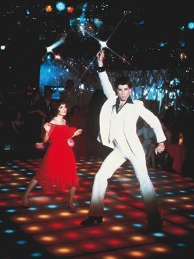 Saturday night fever by John Badham with Karen Lynn Gorney, John Travolta, 1977 (photo)