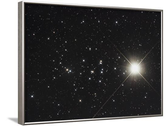 Saturn in the Beehive Star Cluster--Framed Photographic Print