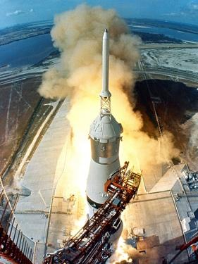 Saturn V Missile Launches the Apollo 11 Moon Mission, July 16, 1969