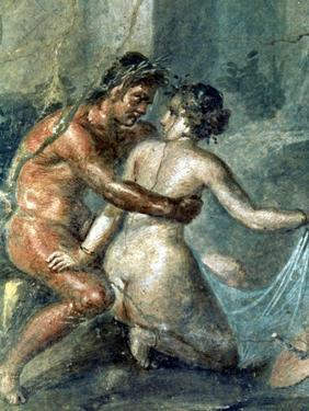 Satyr and Maenad, Detail from a Wall Painting in Pompeii, 1st Century BC