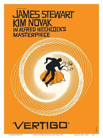 Alfred Hitchcock's Vertigo - Starring James Stewart and Kim Novak