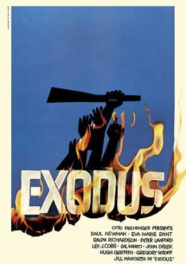 Exodus Motion Picture - Jewish state of Israel by Saul Bass