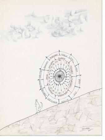 Sketchbook by Saul Steinberg - New Yorker Cartoon by Saul Steinberg