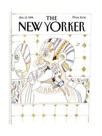 The New Yorker Cover - January 12, 1998 by Saul Steinberg