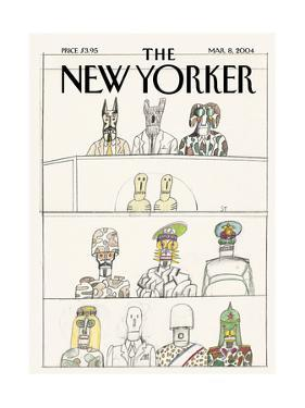 The New Yorker Cover - March 8, 2004 by Saul Steinberg