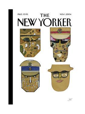 The New Yorker Cover - November 1, 2004 by Saul Steinberg