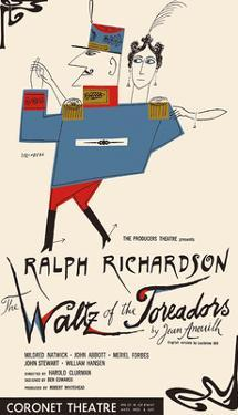 The Waltz of the Toreadors - Starring Ralph Richardson and Mildred Natwick by Saul Steinberg