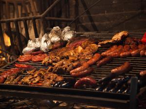 Sausages on a Grill, Mercado Del Puerto, Montevideo, Uruguay