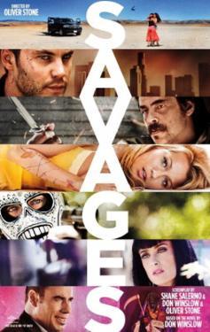Savages (John Travolta, Salma Hayak, Taylor Kitsch, Uma Thurman) Movie Poster
