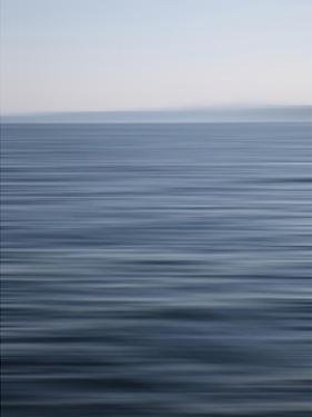 Abstract blue horizon by Savanah Plank