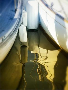 Sailboat summertime harbor by Savanah Plank