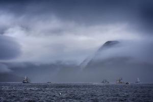 USA, Alaska, Sitka Sound, salmon seiners by Savanah Plank