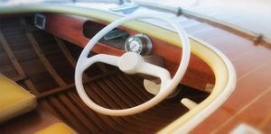Vintage speed boat by Savanah Plank