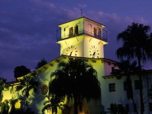 Courthouse at Dusk, Santa Barbara, California, USA by Savanah Stewart