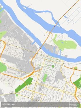 Savannah, United States of America Map