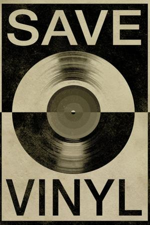 Save the Vinyl Music Poster