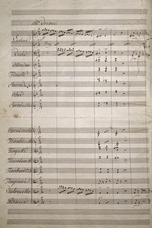 Autograph Sheet Music of Fantasia Funebre, 1856