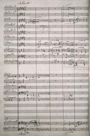 Autograph Sheet Music of Symphony for Large Orchestra, 1864