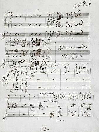 Autograph Sheet Music of Wedding Ball for Francis Duke of Calabria and Maria Sophie of Bavaria