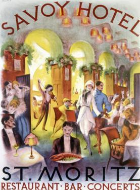 Savoy Hotel Restaurant Bar Concert Poster