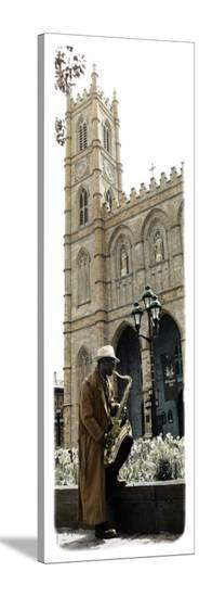 Saxophone Player-Jean Onesti-Stretched Canvas Print
