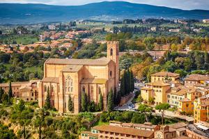 Aerial View over Siena, Italy by sborisov