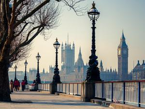 Big Ben and Houses of Parliament in London, UK by sborisov