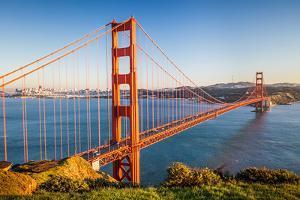 Golden Gate Bridge at Sunset, Sun Francisco by sborisov