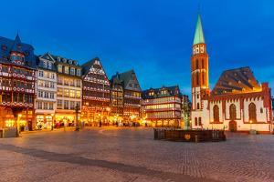 Historic Center of Frankfurt at Dusk by sborisov