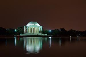 Jefferson Memorial at Night, Washington DC by sborisov