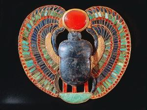 Scarab Pectoral, from the Tomb of Tutankhamun, in the Valley of the Kings at Thebes, c. 1361-52 BC