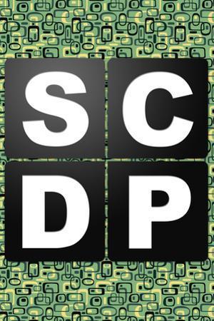 SCDP Agency Logo Retro Style Television