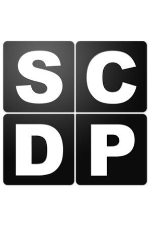 SCDP Agency Logo Television Plastic Sign