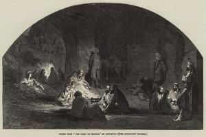 Scene from The Camp of Silesia, at Astley's, the Pandours' Cavern