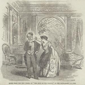 Scene from the New Drama of The Hope of the Family, at the Haymarket Theatre