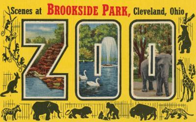Scenes at Brookside Park Zoo, Cleveland, Ohio