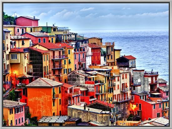 Scenes from Cinque Terra, Italy-Richard Duval-Framed Canvas Print