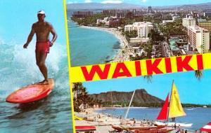 Scenes of Waikiki, Hawaii