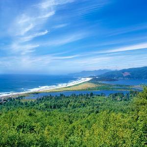 Scenic view of Bayocean Peninsula, Oregon Coast, Tillamook County, Oregon, USA