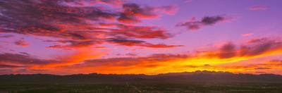 Scenic view of cloudy sky during sunset, Las Vegas, Clark County, Nevada, USA