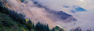 Scenic view of fog over Big Sur coastline, California, USA