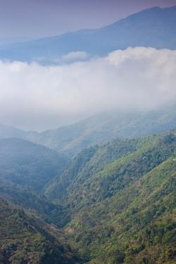 Scenic view of fog over mountains, Sinho District, Vietnam