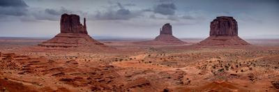 Scenic view of mittens on Monument Valley, Utah-Arizona, USA