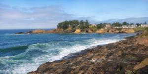 Scenic view of Oregon Coast, Lincoln City, Lincoln County, Oregon, USA