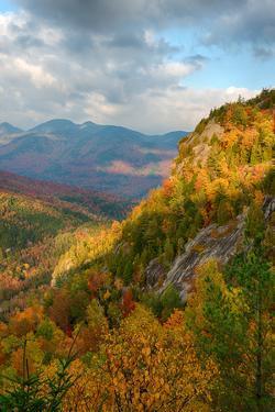 Scenic view of trees on mountain, Great Range, Giant Mountain, Adirondack Mountains State Park,...