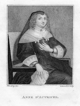 Anne of Austria, 19th Century by Scheneker
