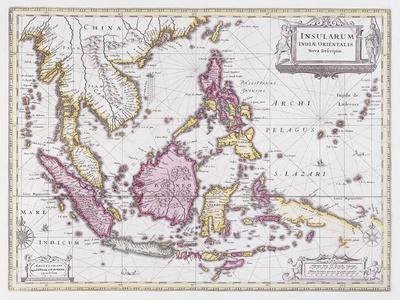 Map of China and Indonesia, C.1710