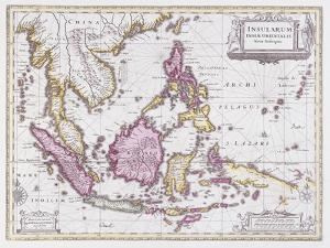 Map of China and Indonesia, C.1710 by Schenk and Valk
