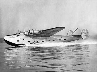 """Boeing 314 Clipper """"Yankee Clipper"""" beim Start, 1939"""